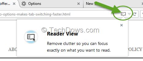 How to remove Firefox's Reader View (book) icon in the