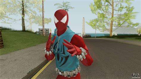 Spider-Man Scarlet Spider Suit (PS4) for GTA San Andreas