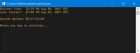 How to get the system uptime in Windows? - Stack Overflow
